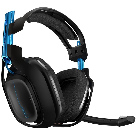 ASTRO Gaming A50 3rd Generation Gaming Headset 7.1 - Black / Blue - PS4 - PC Windows 7-8-10