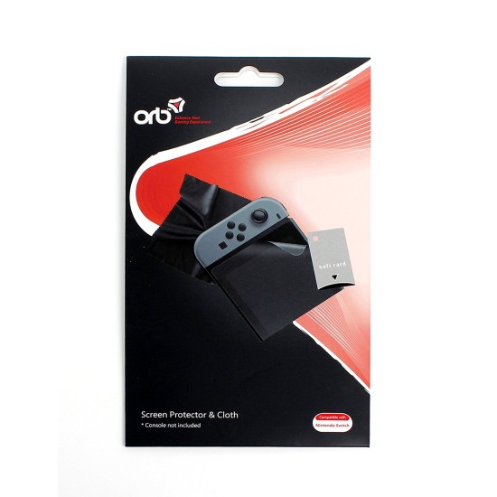 ORB Screen Protector and Cloth - Nintendo Switch