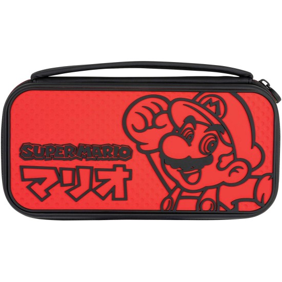 PDP Super Mario Deluxe Slim Travel Case for Console and Games - Nintendo Switch