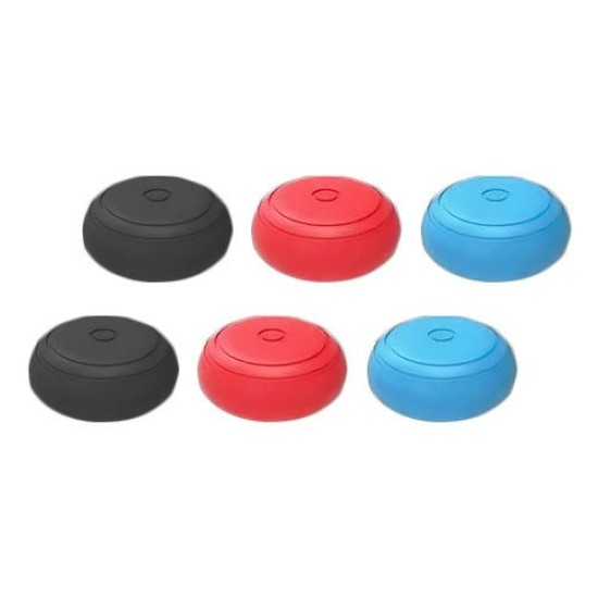 ZEDLABZ silicone thumb grip stick caps for Switch joy-con controllers - 6 pack multi color | Nintendo Switch