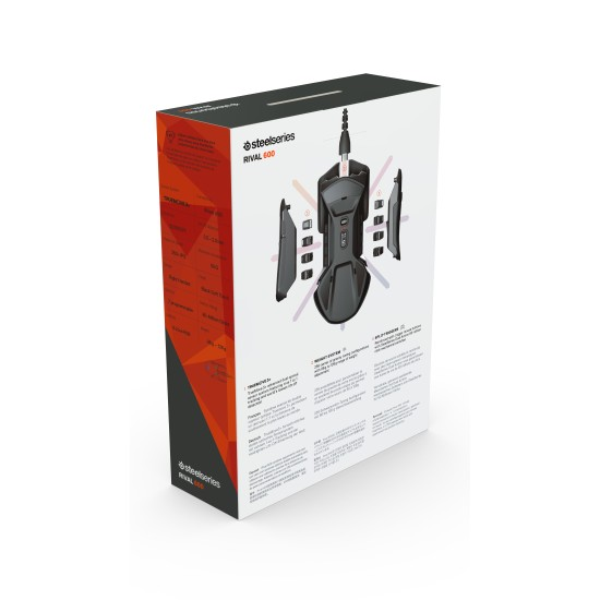 SteelSeries Rival 600 - Wired Gaming Mouse - Black