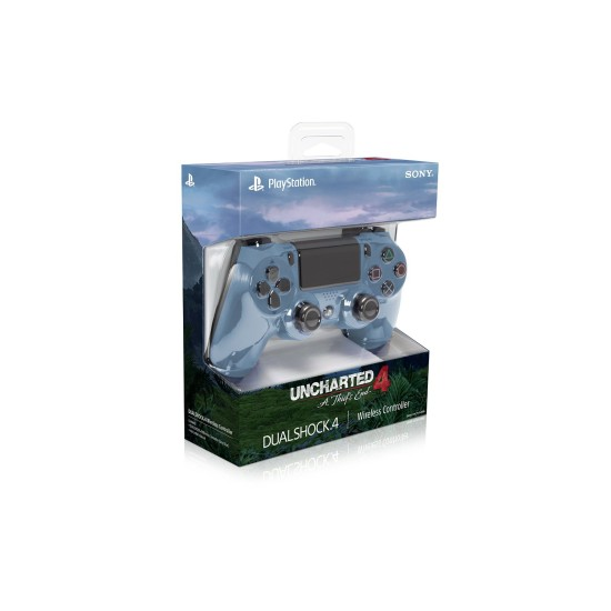 Sony DualShock 4 Wireless Controller - Gray Blue - Uncharted 4 Edition