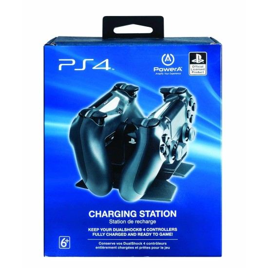 POWER A DualShock 4 Dual Charger with FREE USB Cable | PS4