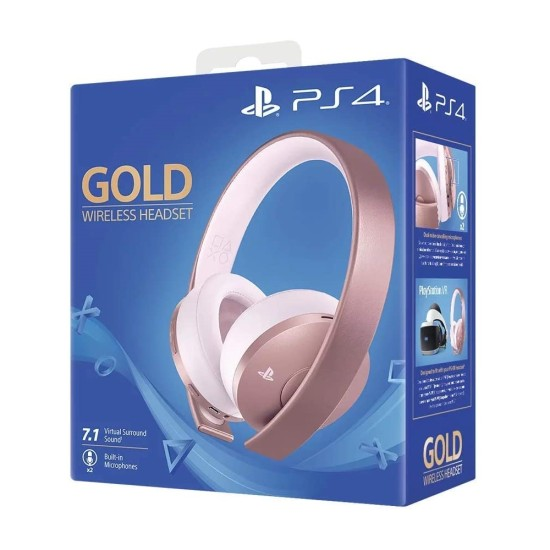Sony PlayStation 4 Gold Wireless Headset - Rose Gold Edition | PS4/PC/MAC