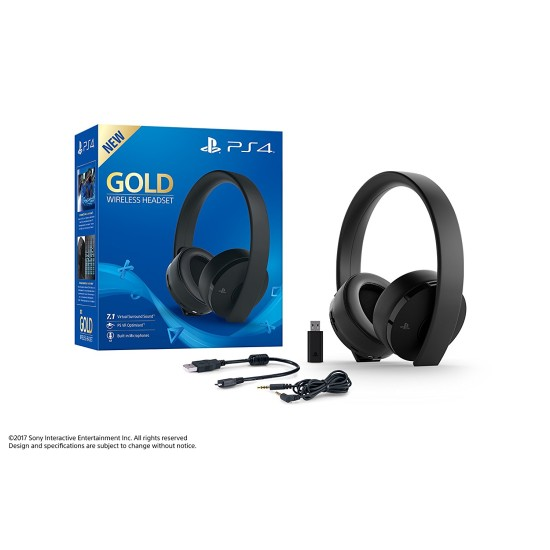 Sony PlayStation 4 Gold Wireless Headset | PS4/PC/MAC