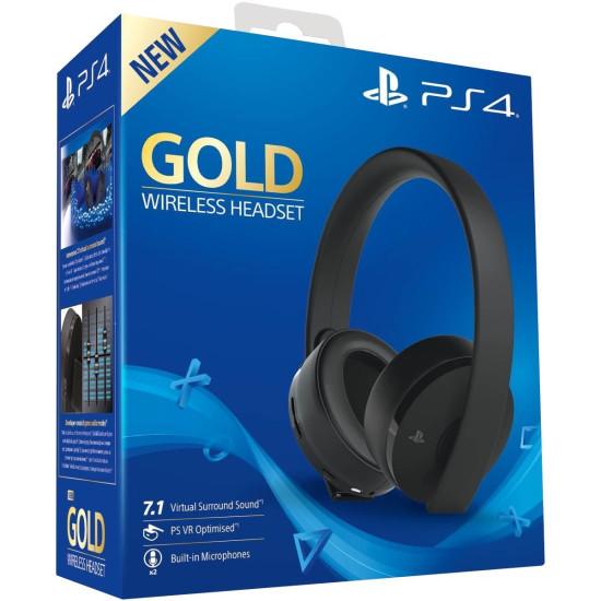 Sony PlayStation 4 Gold Wireless Headset | PS4/PC/MAC