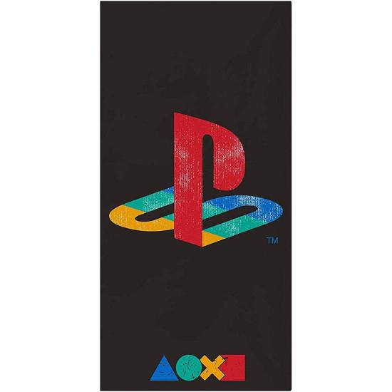 PlayStation Official Towel - Retro Logo Design Beach Towel - 100 Cotton - 140 x 70cm