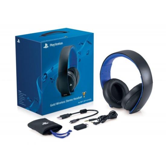 Sony Gold Wireless Stereo Headset PS4/PS3/PSVita ( Black )