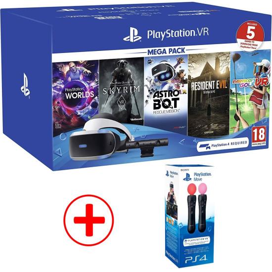 Sony PlayStation VR Mega Pack - 5 Games Bundle + 2 Motion Controller Bundle | PSVR