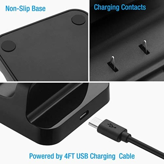 DOBE Dual Charging Dock Controller Charger+2pcs Rechargeable Batteries - black - Xbox One