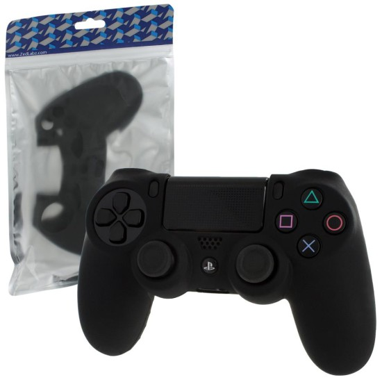 ZEDLABZ PS4 Controller Silicon Skin Protective Cover With Ribbed Handle Grip - BLACK | PS4