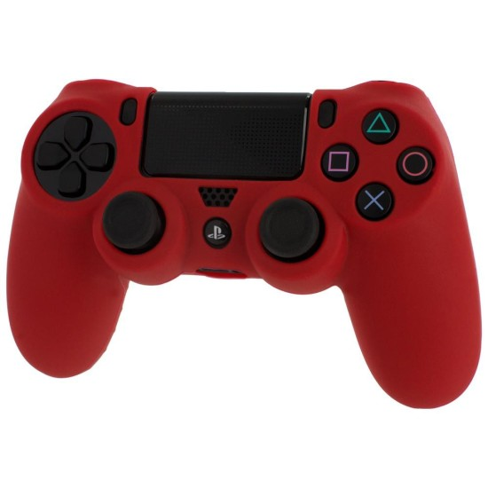 ZEDLABZ PS4 Controller Silicon Skin Protective Cover With Ribbed Handle Grip - RED| PS4