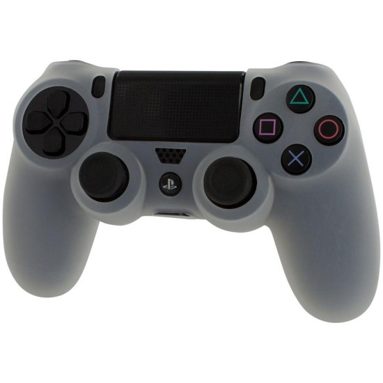 ZEDLABZ PS4 Controller Silicon Skin Protective Cover With Ribbed Handle Grip - WHITE   PS4