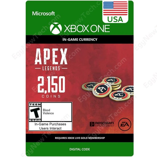 APEX Legends - 2150 Coins USA Store - Xbox One - Digital Code