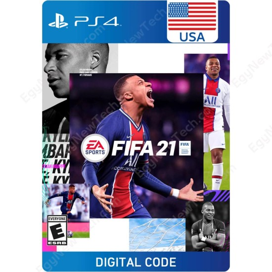 FIFA 21 - USA + Ultimate Team + 14 Days USA PS Plus - PlayStation 4 - Digital Code