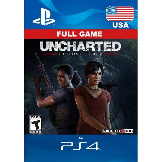Uncharted: The Lost Legacy - USA Digital Code - PlayStation 4