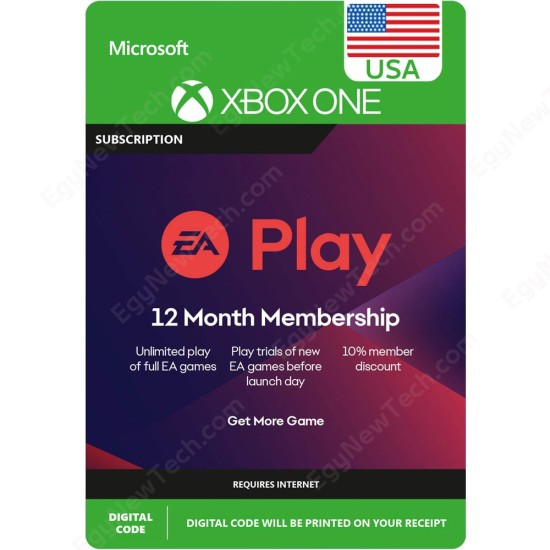 12 Months USA EA Play Subscription Xbox One - Digital Code