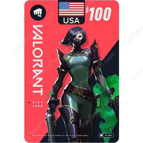 $100 USA VALORANT Gift Card - PC - Digital Code