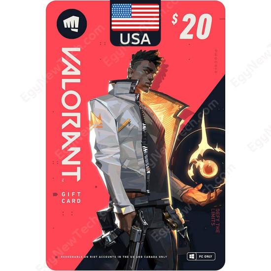 $20 USA VALORANT Gift Card - PC - Digital Code