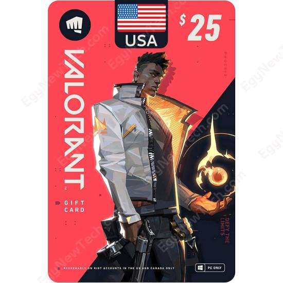$25 USA VALORANT Gift Card - PC - Digital Code