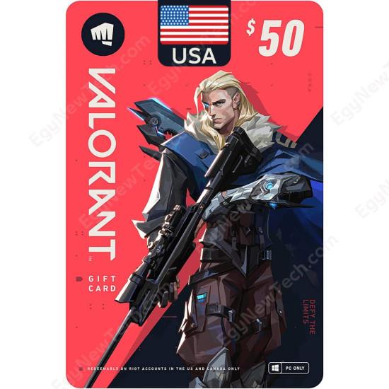 $50 USA VALORANT Gift Card - PC - Digital Code