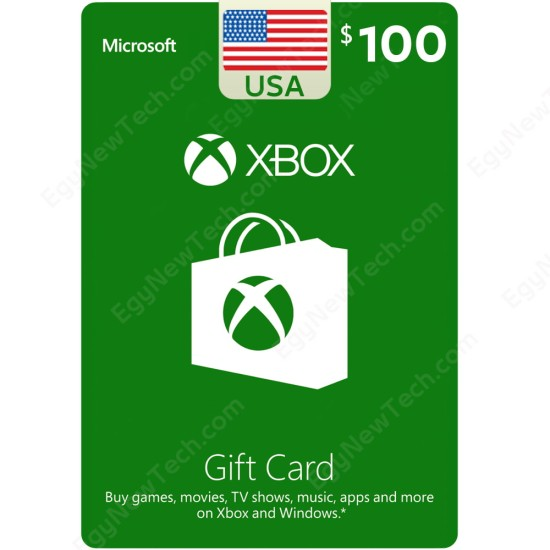 $100 USA Xbox Gift Card - XB1 / XB360 / Windows - Digital Code