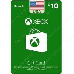 $10 Xbox Gift Card - XB1 / XB360 / Windows | Digital Code