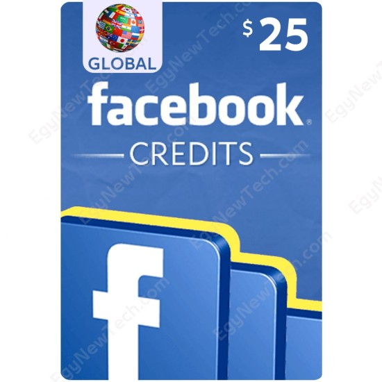$25 Worldwide Facebook Gift Card - For Games - Digital Code