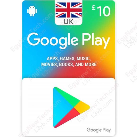10 £ UK Google Play Gift Card - Digital Code