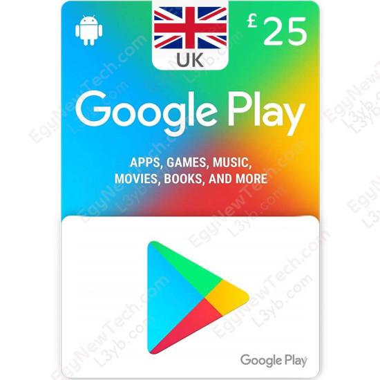 25 £ UK Google Play Gift Card - Digital Code