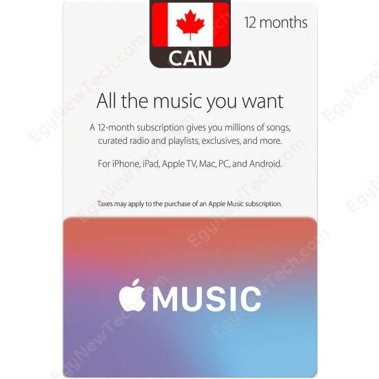12 Months Canada Apple Music Membership - Digital Code