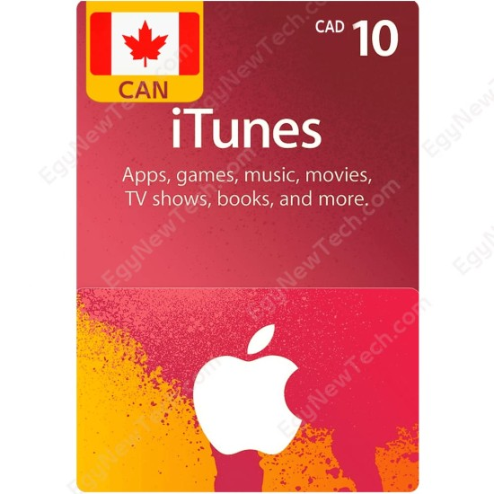 CDN$10 Canada iTunes Gift Card - Digital Code