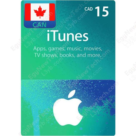 CDN$15 Canada iTunes Gift Card - Digital Code