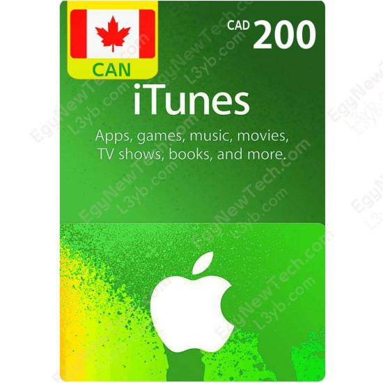 CDN$200 Canada iTunes Gift Card - Digital Code