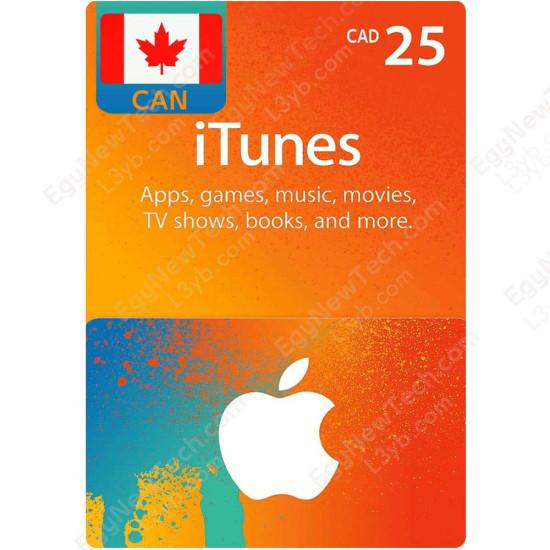 CDN$25 Canada iTunes Gift Card - Digital Code