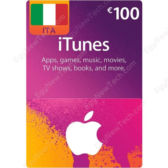 €100 Italy iTunes Gift Card - Digital Code