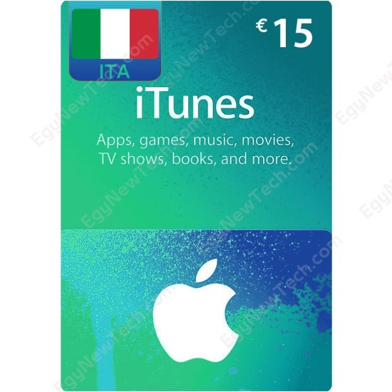 €15 Italy iTunes Gift Card - Digital Code