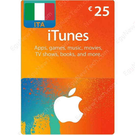 €25 Italy iTunes Gift Card - Digital Code
