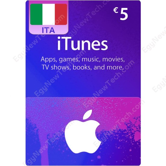 €5 Italy iTunes Gift Card - Digital Code