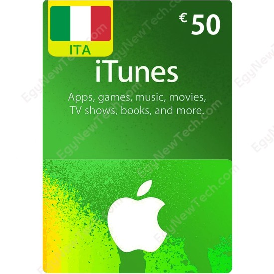€50 Italy iTunes Gift Card - Digital Code