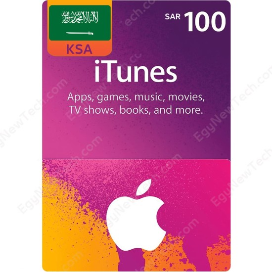 SAR100 KSA iTunes Gift Card - Digital Code