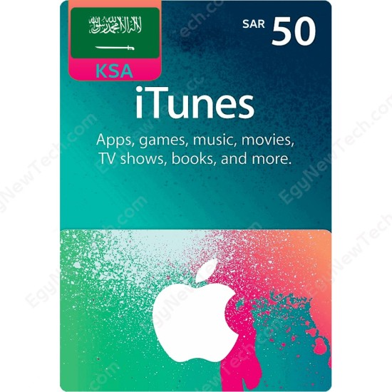 SAR50 KSA iTunes Gift Card - Digital Code