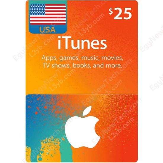 $25 USA iTunes Gift Card - Digital Code