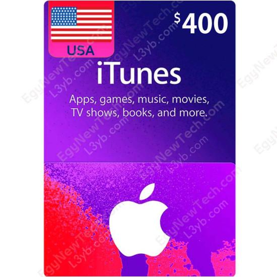$400 USA iTunes Gift Card - Digital Code