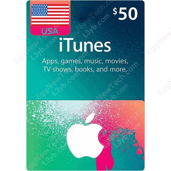 $50 USA iTunes Gift Card - Digital Code