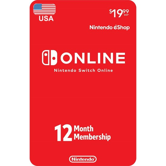1 Year USA Online Individual Membership For Nintendo Switch - Digital Code