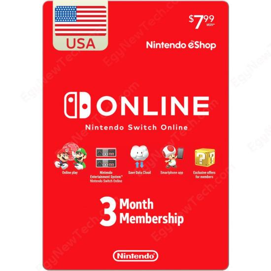 3 Months USA Online Individual Membership For Nintendo Switch - Digital Code