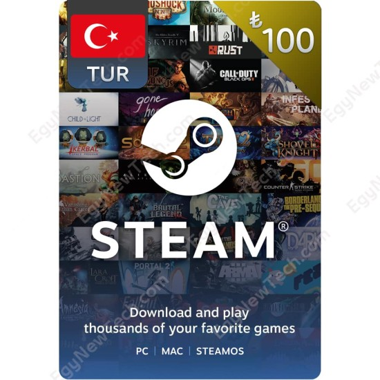 ₺100 Turkish Lira Steam - Digital Code