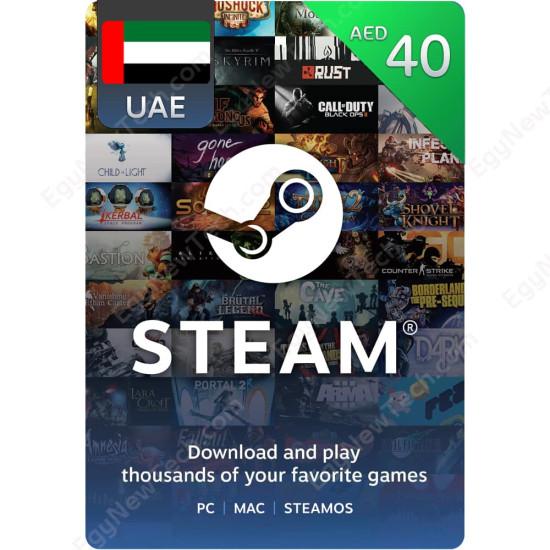 AED40 UAE Steam - Digital Code