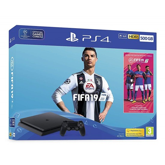Sony PlayStation 4 Slim - 500GB FIFA 19 Bundle - with FIFA 19 Ultimate Team Icons and Rare Player Pack